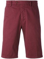 Aspesi Classic Fitted Shorts Men Cotton 52 Red