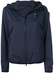 Blauer Zip Hooded Jacket Blue