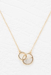 Forever 21 Circle Charm Necklace Gold Silver
