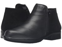 Naot Footwear Helm Black Raven Leather Black Suede Women's Boots