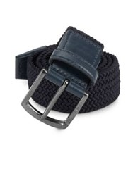 Ag Green Label Woven Buckle Belt Navy