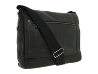 Kenneth Cole Reaction Busi Mess Essentials Single Gusset Flapover Messenger Bag Black Messenger Bags