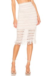 Elliatt Terrace Skirt White