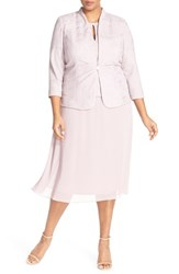 Plus Size Women's Alex Evenings Mock Two Piece Dress And Jacket