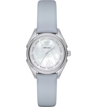 Emporio Armani Ar11032 Steel And Leather Watch