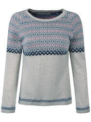 Seasalt Ley Stone Fairisle Jumper Bargello Aran