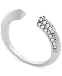 Bcbgeneration Silver Tone Pave Open Ring