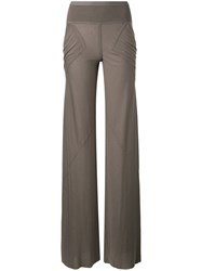 Rick Owens Lilies Panelled Pocket Trousers Brown