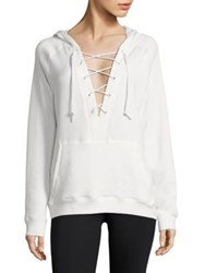 Alala Lace Up Hoodie White