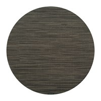 Chilewich Bamboo Round Placemat Grey Flannel