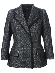 Giambattista Valli Chain Knit Style Blazer Black