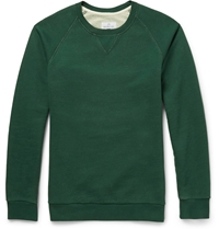 Hentsch Man Two Tone Washed Cotton Jersey Sweatshirt Green