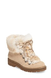 Arturo Chiang Women's 'Philippa' Genuine Rabbit Fur Hiking Boot Sahara Tan Suede