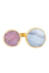 Janna Conner Vi Druzy And Agate Ring No Color