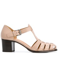 Church's Woven Buckled Sandals Nude And Neutrals