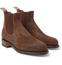 R.M.Williams Comfort Turnout Distressed Nubuck Chelsea Boots Brown