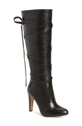 Vince Camuto Women's 'Millay' Knee High Boot Black Leather