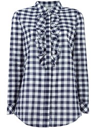 Twin Set Gingham Check Shirt Blue