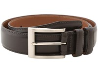 Allen Edmonds Wide Basic Dress Dark Brown Burnished Calf Men's Belts