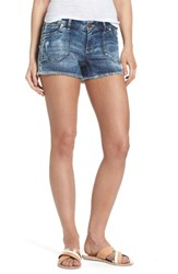 1822 Denim Women's Porkchop Pocket Shorts Med Wash