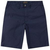 Beams Plus Seersucker Short Blue