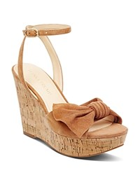 Ivanka Trump Women's Heibo Suede Platform Wedge Sandals Brown