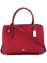 Coach Large Detachable Strap Tote Red