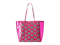 Vera Bradley Clearly Colorful Tote Pink Swirls Flowers Tote Handbags Red