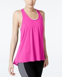 Ideology Mesh Racerback Swing Tank Top Only At Macy's Molten Pink