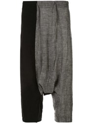 Forme D'expression Drop Crotch Combo Trousers Black