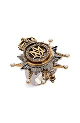 Alexander Mcqueen Women's Medallion Ring