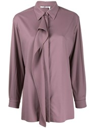 Agnona Draped Detail Shirt Purple