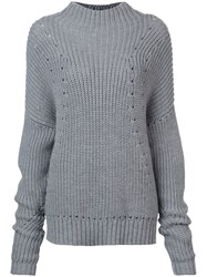 Jason Wu Chunky Knit Sweater Grey
