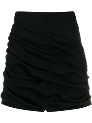 Sandro Paris Ruched Detail Shorts Black