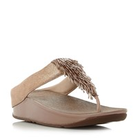 Fitflop Cha Cha Wedge Sandals Rose Gold