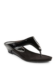 Kenneth Cole Reaction Great Leap Thong Sandals Black