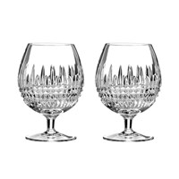 Waterford Lismore Diamond Brandy Glasses Set Of 2