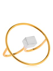 Uribe Simone Double Finger Ring Gold Silver