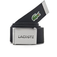 Lacoste Men's Perforated Plate Belt Black