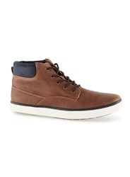 Topman Brown Tan Faux Leather Short Cuff Boots