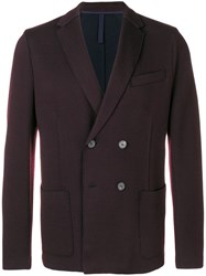 Harris Wharf London Double Breasted Blazer Brown