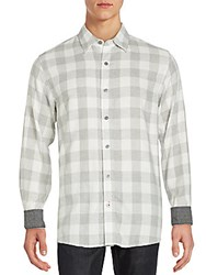 Weatherproof Vintage Check Long Sleeve Cotton Shirt Grey Heather