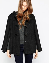 Gloverall Cape In Charcoal Grey
