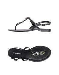 Apepazza Thong Sandals Black