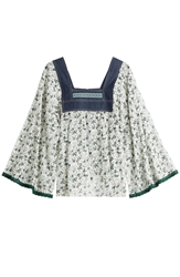 Anna Sui Printed Blouse With Denim