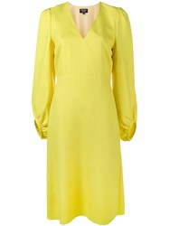 Creatures Of The Wind V Neck Long Sleeve Dress Yellow Orange