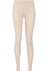 Mm6 Maison Margiela Stretch Jersey Leggings Nude