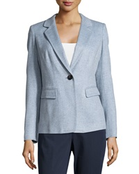 Lafayette 148 New York Cashmere Stelly One Button Blazer Ice Blue M