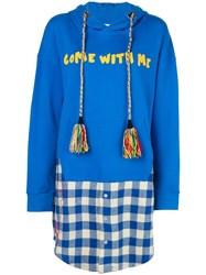 Mira Mikati Oversized Come With Me Hoodie Blue