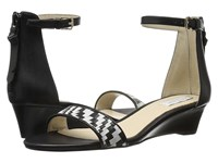 Cole Haan Genevieve Weave Wedge Black Leather Black White Genevieve Weave Women's Shoes